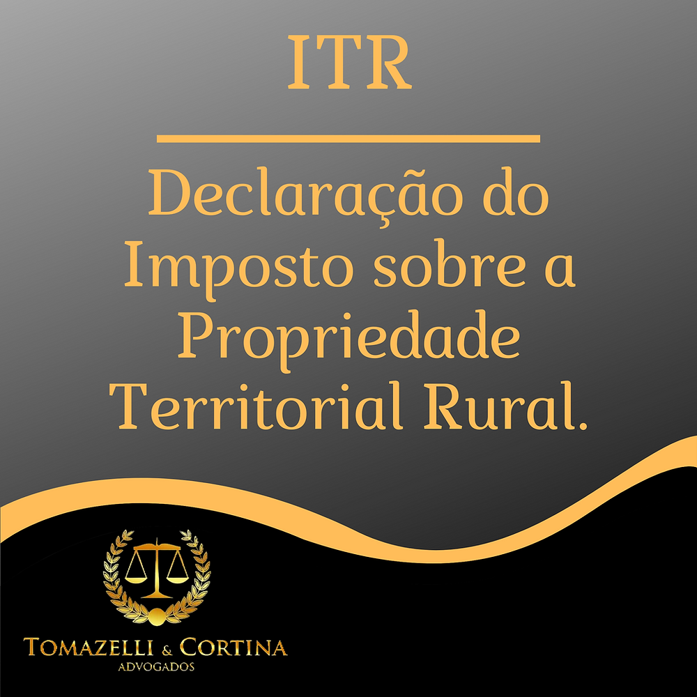 ITR direito tributário imposto propriedade rural