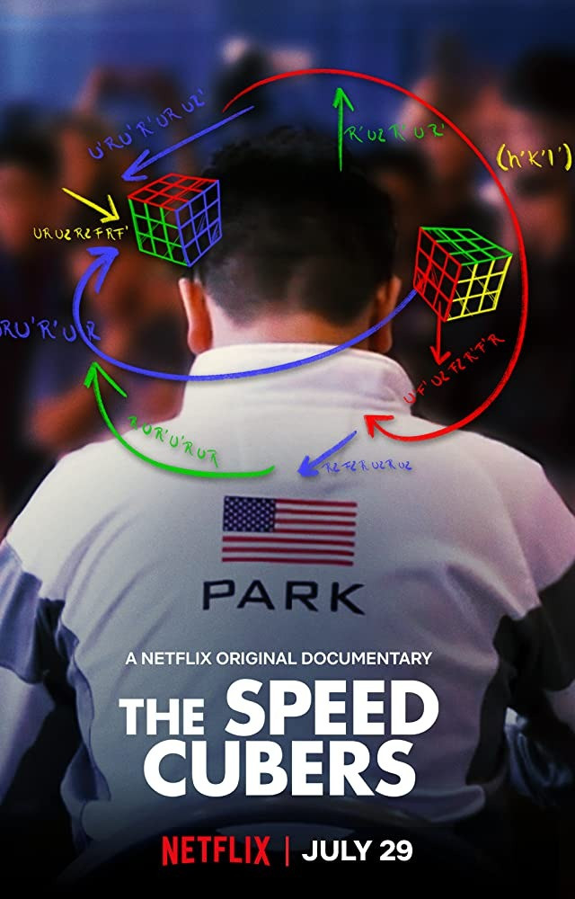 Release poster of The Speed Cubers, showing competitor Max Parks from behind