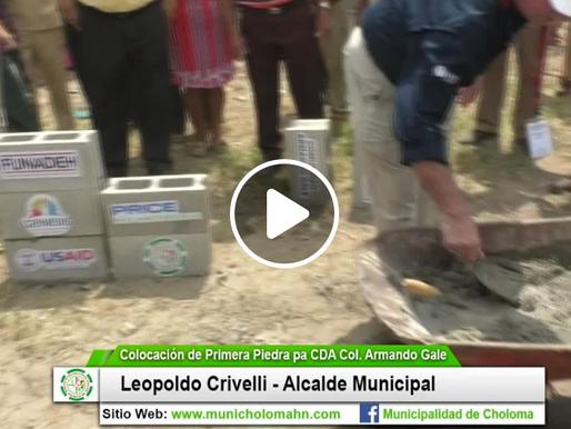 Se coloca la primera piedra para la construcción de CDA en la Col. Armando Gale