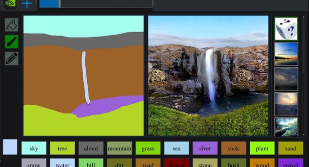 Uma pincelada de génio: GauGan transforma rabiscos em paisagens  fotorrealísticas impressionantes