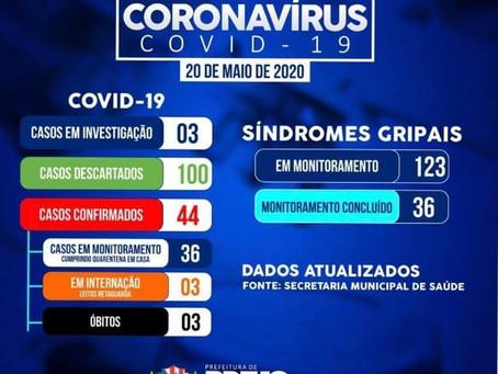 Brejo da Madre de Deus atinge 44 casos confirmados e 3 mortes pelo novo coronavírus