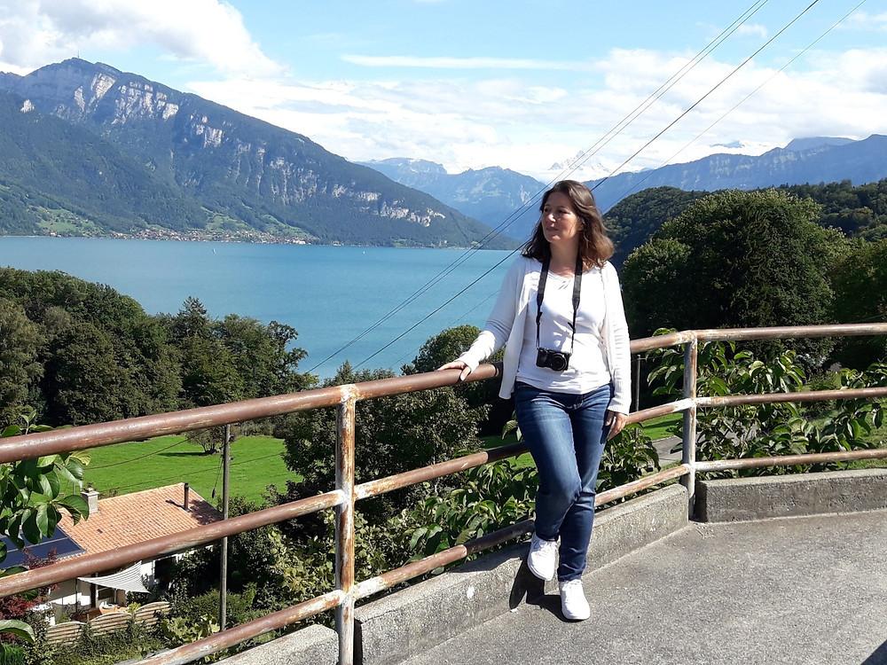 """אגם תון, שווייץ, ענבל ז""""ק"""