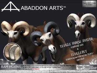 ABADDON ARTS - Ram Horns