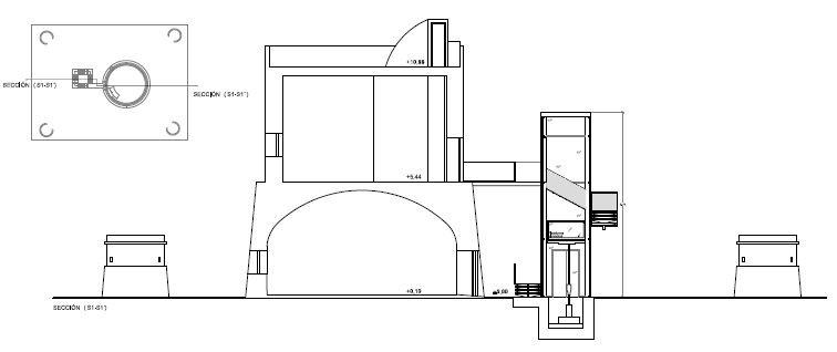 Torre de San Miguel. Sección reformada