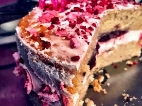 Raspberry Vanilla Vegan Sponge Cake