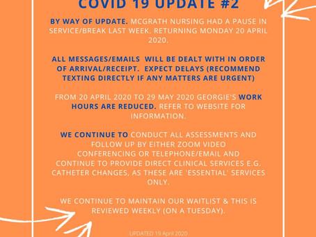 Covid 19 Update No 2 (19.04.2020)