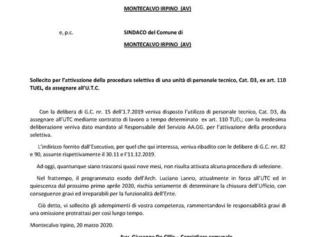 CHIUDE L'UFFICIO TECNICO COMUNALE
