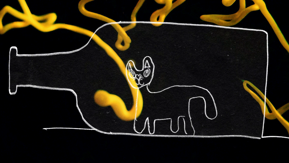 Screenshot from our #2 teaser of Cat in the Bottle.