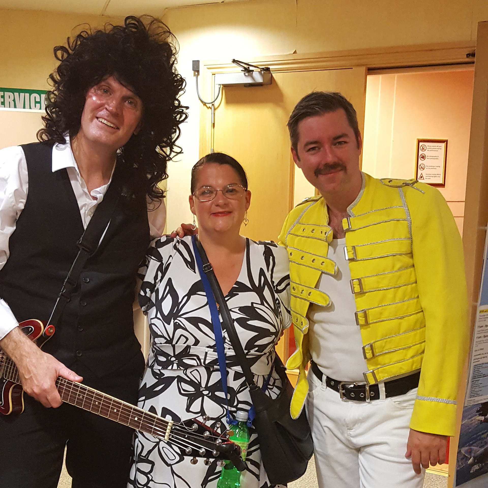 Brian and Freddie in Queen Tribute Band Majesty with me.