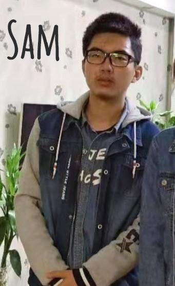 En kinesisk dreng der hedder sam.