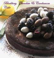 Sensational Blackberry, Cardamom & Chocolate Cake