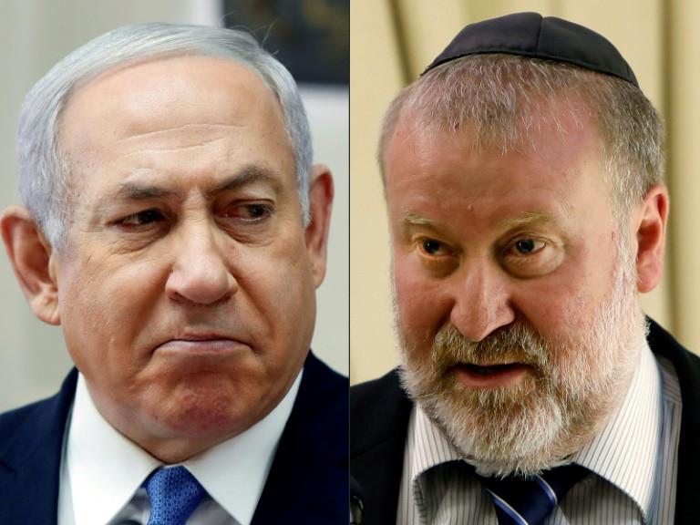 Netanyahu and AG Avichai Mandelblit