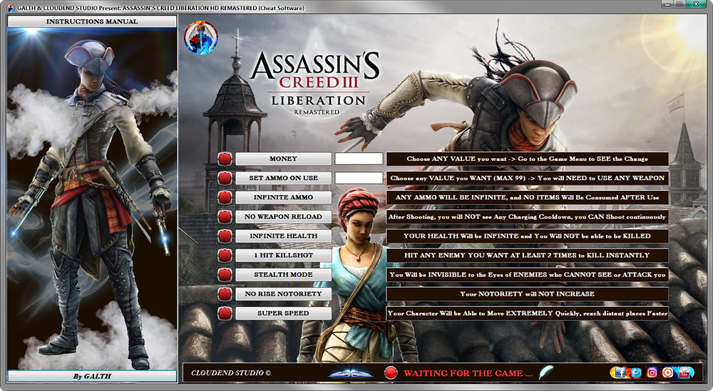 Assassin Creed III Remastered, Liberation HD Remastered, Software, cloudend studio, galth, cheat, trainer, code, mod, software, steam, pc, youtube, tricks, engaños, トリック, 騙します, betrügen, trucchi, pokemon, dragon ball xenoverse, playerunknown's battlegrounds, fortnite, counter strike, ign, multiplayer.it, eurogamer, game source, final fantasy, dark souls, monster hunter world, nintendo, ps4, ps5, xbox, nba, blizzard, world of warcraft, twich, facebook, windows, rocket league, gta, gta 5, gta 6, call of duty, gamesradar, metacritic, collector edition, anime, manga, fifa, pes, f1, game, instagram, twitter, streaming, cheat happens, One Piece World Seeker, Naruto, dragon ball project z, dota, devil may cry 5, трюки, трюкинасамокате, трюки, tricher, カンニング竹山, カンニング, 사기, 사기샷, 사기꾼, 作弊 #騙子, 사기꾼, 사기꾼조심, 사기꾼들, betrüger, oszustwo, oszust, ubisoft, 28/05/2019,