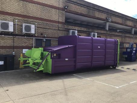 New Portable Waste Compactor & Strautmann Baler At Stevenage Shopping Centre