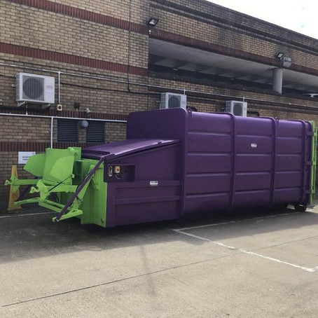 New Portable Waste Compactor & Strautmann Baler At Stevenage Shopping Centre