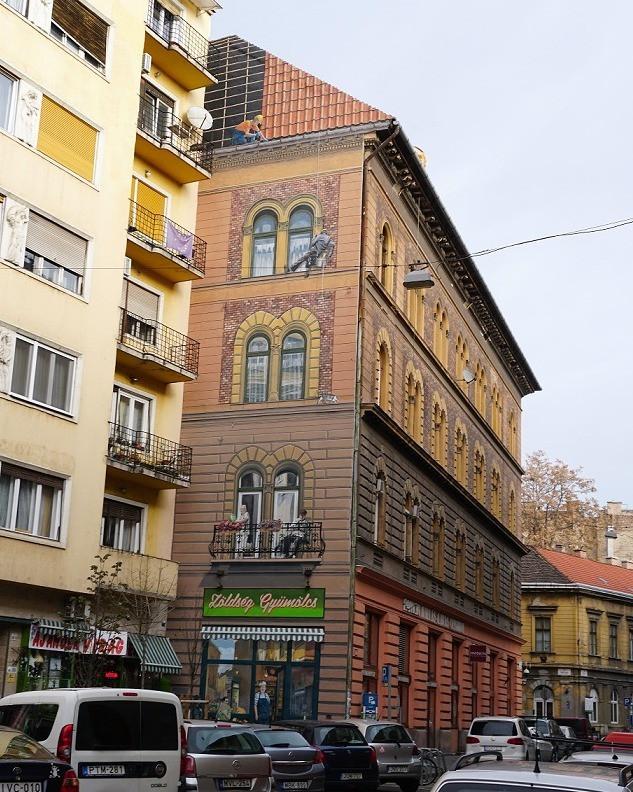 גרפיטי, ציורי רחוב ברובע היהודי בודפשט