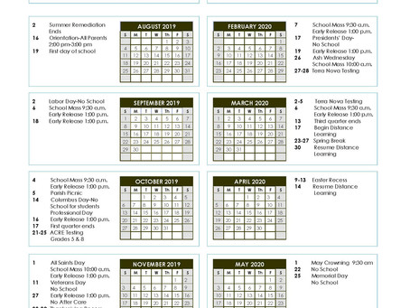 School Calendar Updated
