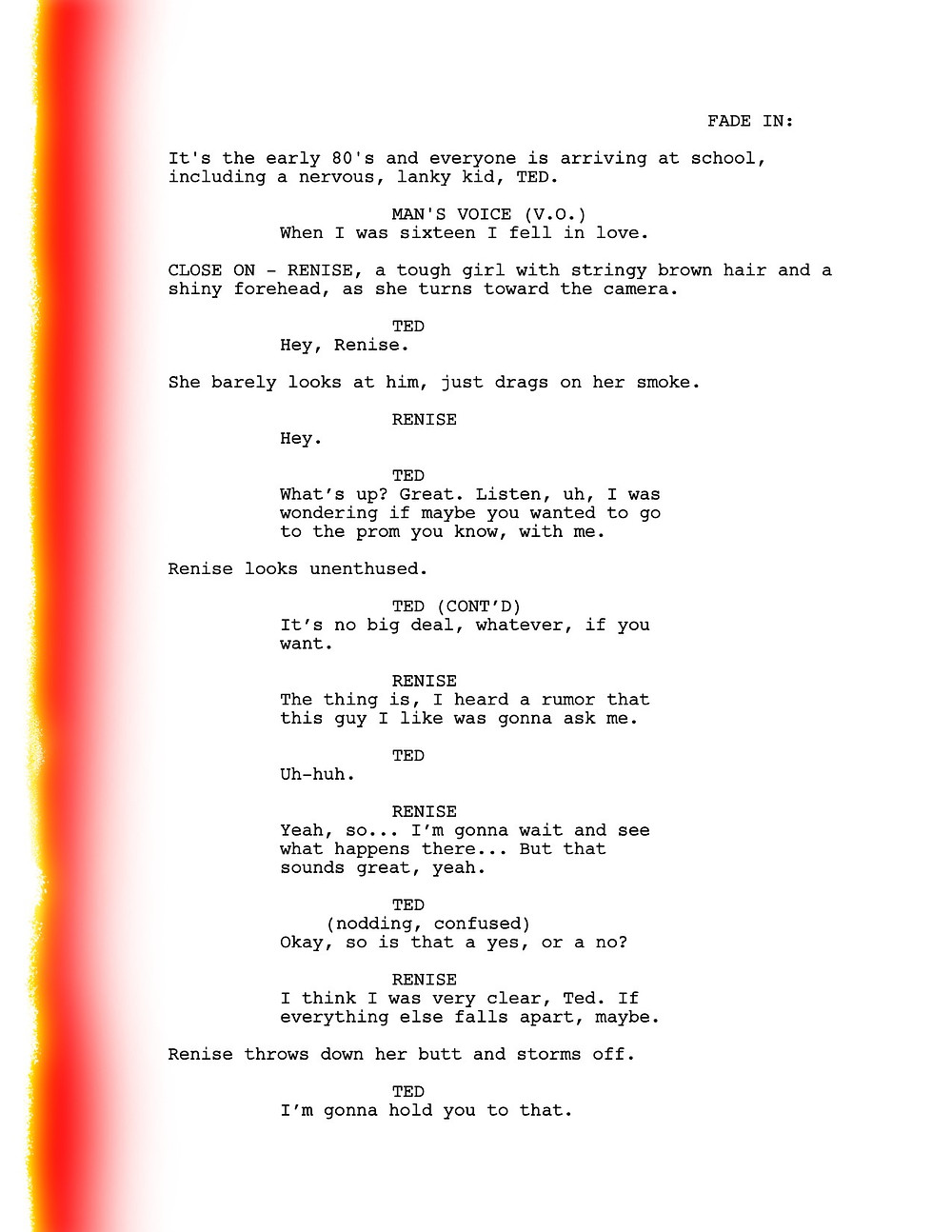There's Something About Mary screenplay