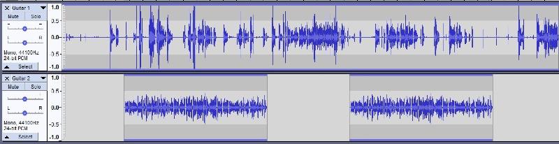 Audio recording DAW