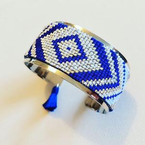 MILOU ET ANOUCH bague bleue et blanche