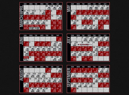 An early look at the 2019 schedule