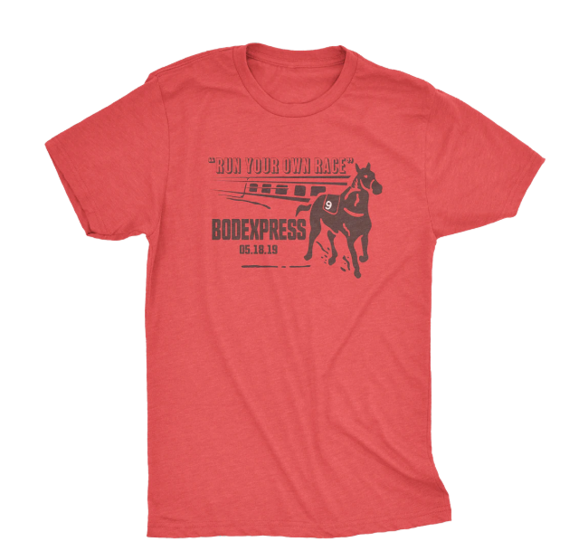 Bodexpress Preakness. Horse racing gifts. Horse racing t-shirts.
