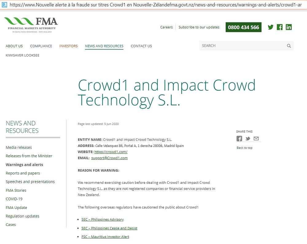 Crowd1 Fraude