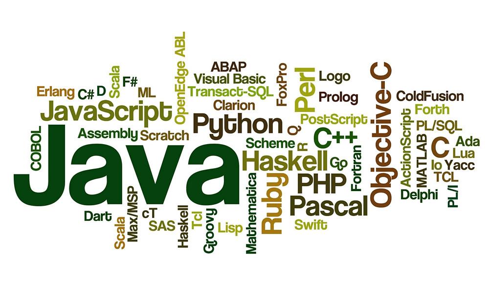 wordle of coding languages