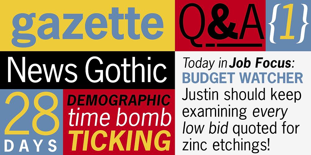 Fonts Chữ News Gothic Std