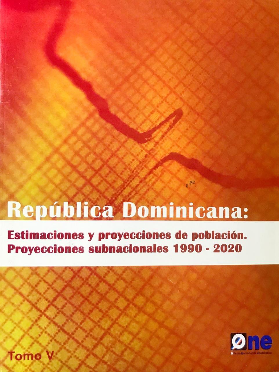 República Dominicana. Estimaciones y proyecciones de población. Proyecciones subnacionales 1990 - 2020