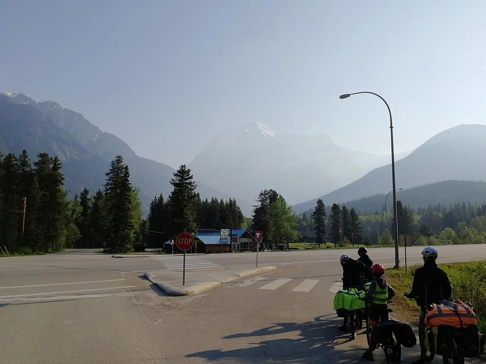 Tour du monde à vélo en famille : mont robson