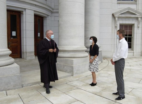 COVID Courthouse Wedding