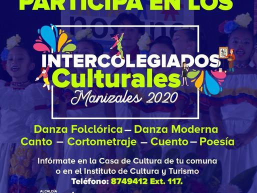 INSCRÍBETE EN LOS INTERCOLEGIados culturales manizales 2020