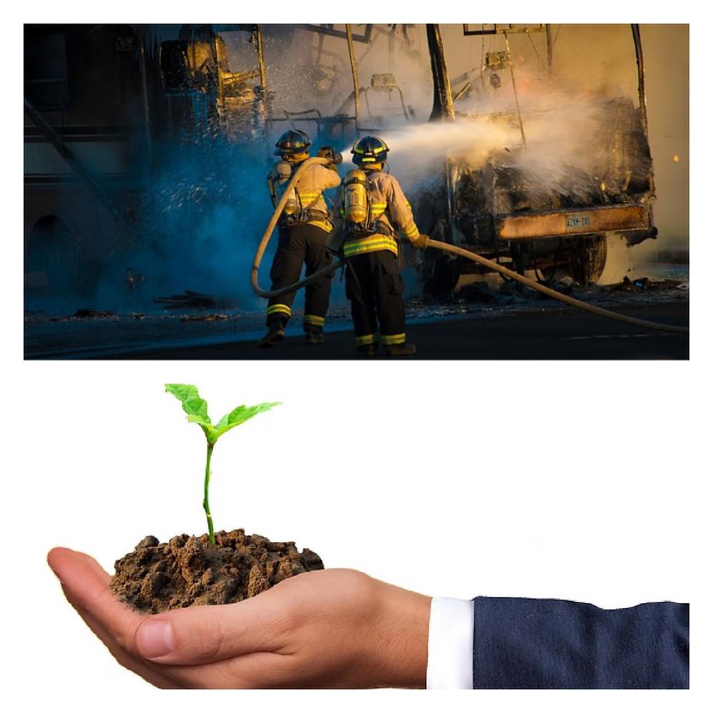 Consulente pompiere o consulente coltivatore