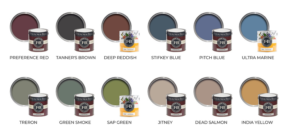 Farrow and Ball 2021 Colour Trends Palette