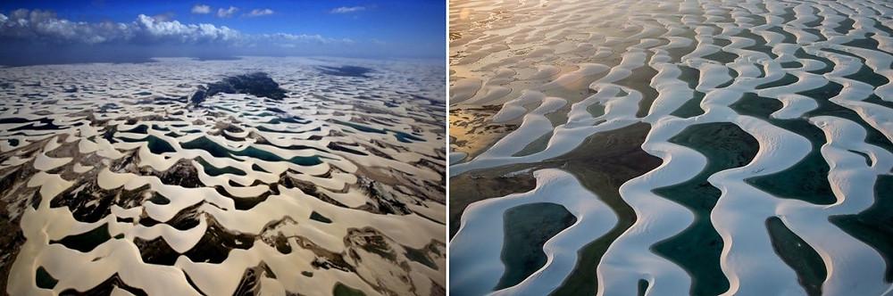 Le désert blanc des Lençóis Maranhenses au Brésil