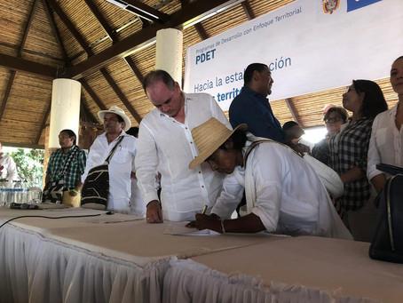 Alcaldes, gobernadores y etnias indígenas firmaron acuerdo de transformación regional