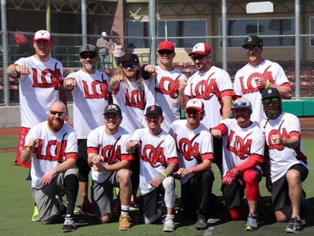 Legacy Outdoor Adventures 2019 Clean and Sober Softball World Champions.