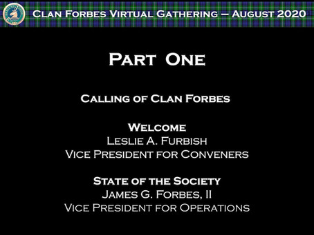 August 2020 Gathering Video
