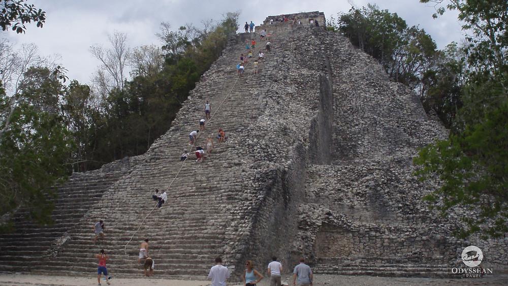 The pyramid at Coba, Mexico can still be climbed