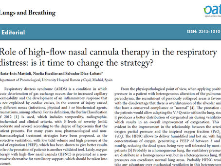 Role of high-flow nasal cannula therapy in the respiratory distress: is it time to change the strate