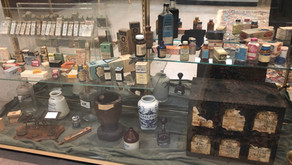 Pharmacy artifacts help tell the story of the Burman family legacy as seen through DCHS exhibit