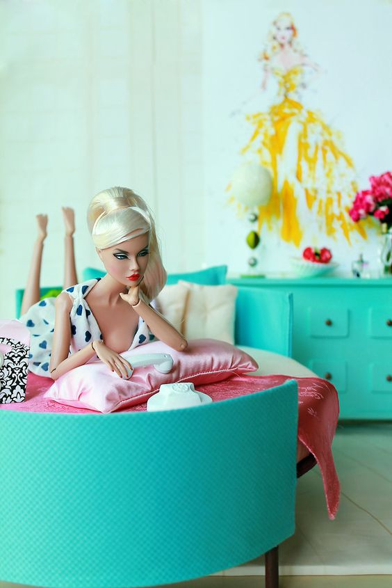 barbie doll on the phone