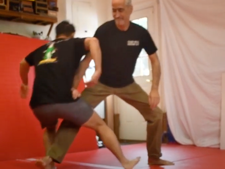 "What about your feet in a fight?  Practice ""leg dynamics"" and you won't have to think about it."