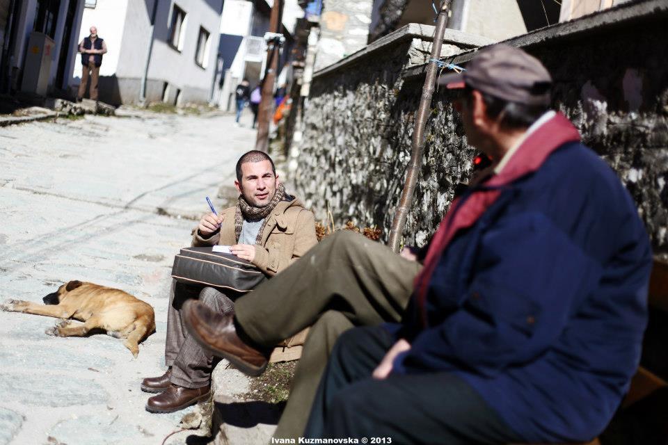 Петре Димитров на работна задача во Крушево