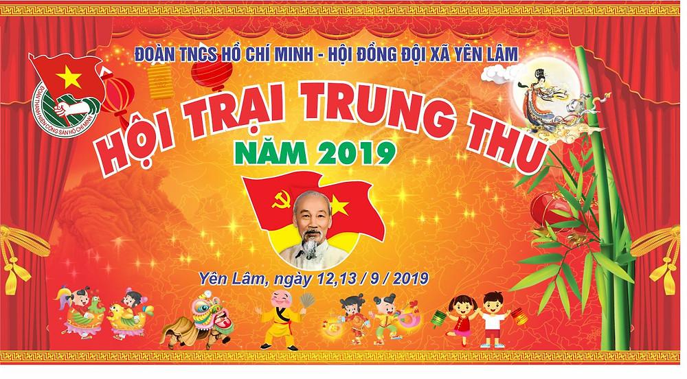 Background Backdrop Trung Thu Vector Corel CDR Part20