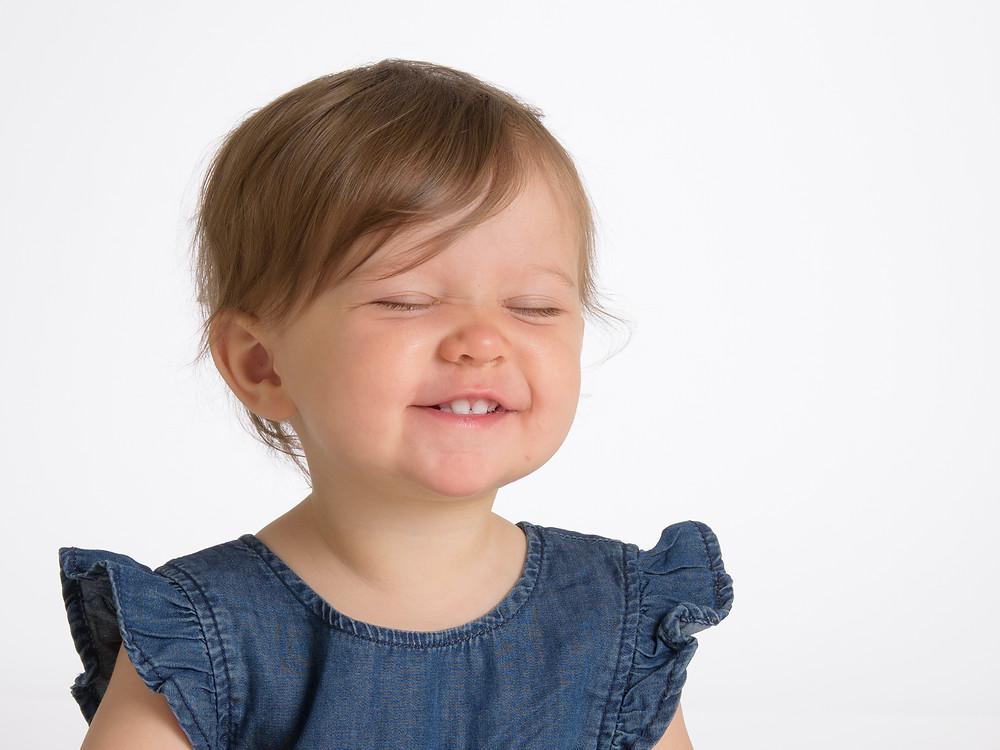 En mycket nöjd liten flicka!