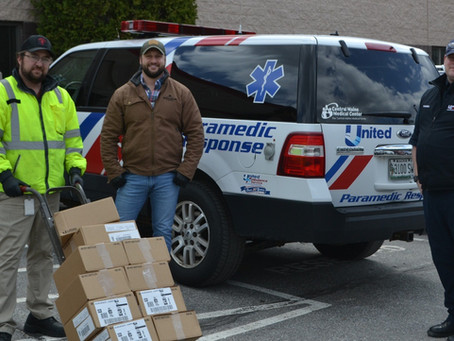 United Ambulance Receives Donation from Boston Brands of Maine During Coronavirus Pandemic