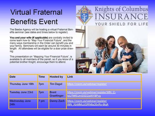 Virtual Fraternal Benefits Nights
