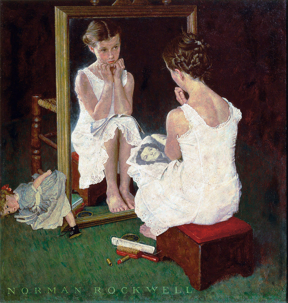 Norman Rockwell, Girl at Mirror, 1954